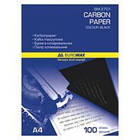 Бумага копировальная BuroMax А4 100 листов черная BM.2701