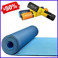 Гимнастический фитнес коврик мат 4FIZJO Tpe 6 мм 4FJ0033 Blue-Sky Blue для занятий пилатесом, йогой спортивный
