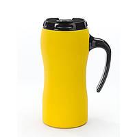 Термокружка металлическая Colorissimo  450 мл, желтая