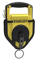 Шнур разметочный STANLEY 45м в большом корпусе под 500грамм пудры ускоренная смотка 3:1STHT0-47347