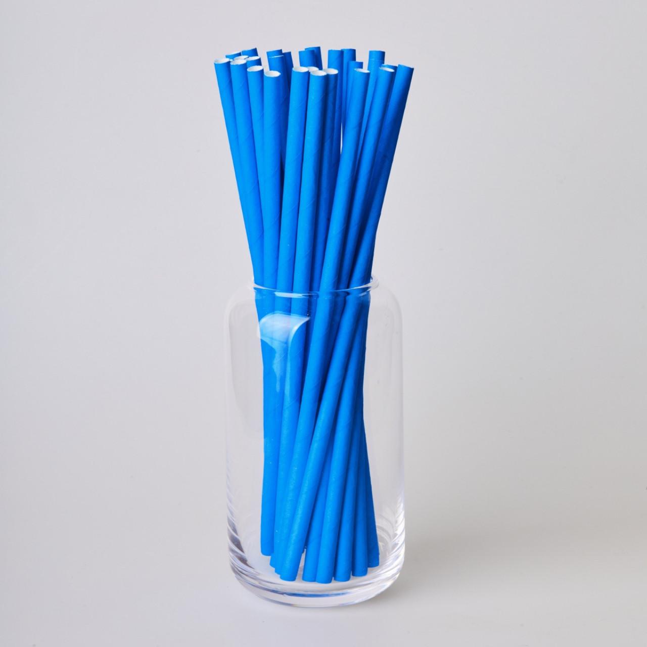 Бумажные трубочки 200 мм (250 шт.) синие
