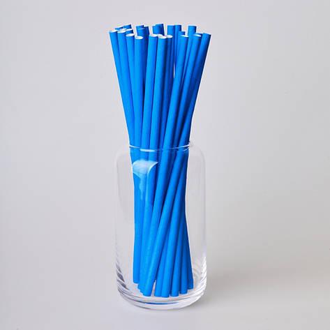 Бумажные трубочки 200 мм (250 шт.) синие, фото 2