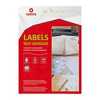 Этикетки Optima 210х148.5мм 200шт 100 листов, бумага самоклеющаяся O25102