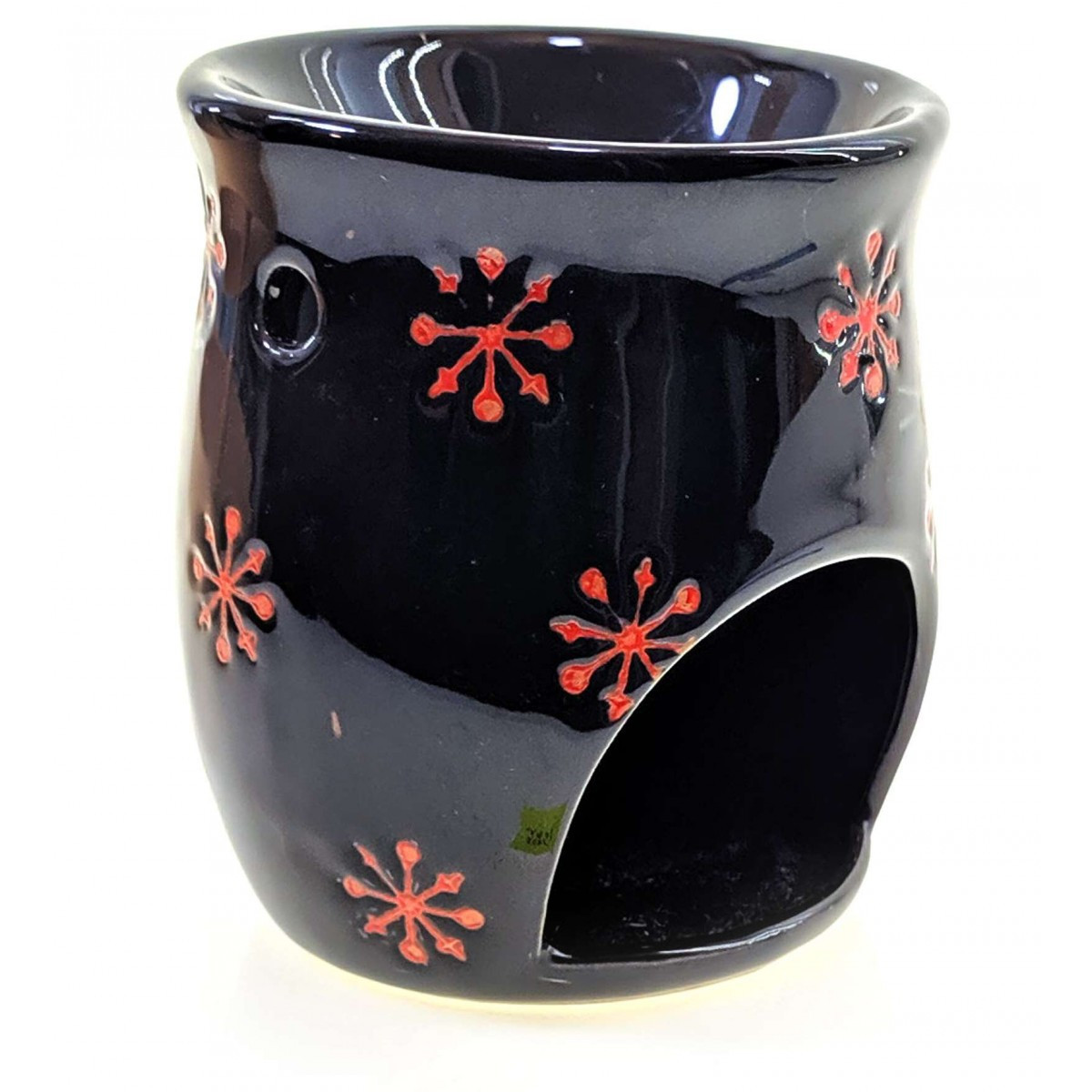 Аромалампа керамическая черная (10х8х8 см)