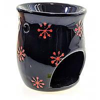 Аромалампа керамическая черная (10х8х8 см), фото 1