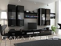 Мебельная стенка DREAM I черный / черный глянец