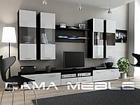 Мебельная стенка DREAM I черный / белый глянец