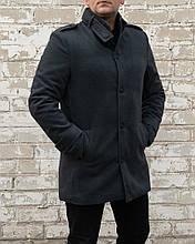 Мужское пальто кашемировое утепленное Сл 1679