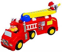 Развивающая игрушка Kiddieland Preschool Пожарная машина (на колесах,свет,звук)