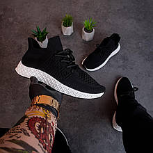 🔥🔥🔥 Кроссовки мужские кеды спортивные повседневные черные сетка