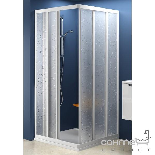 Душевые кабины, двери и шторки для ванн Ravak Дверь для душ. уголка Ravak Supernova ASRV3-75 белый/grape (стекло) 15V30102ZG