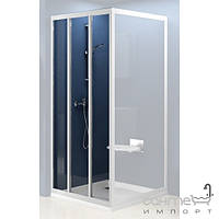 Душевые кабины, двери и шторки для ванн Ravak Душевые двери Ravak Supernova ASDP3-80 сатин/прозрачное (стекло) 00V40U02Z1