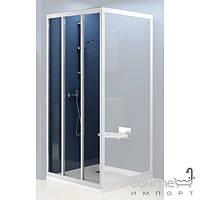 Душевые кабины, двери и шторки для ванн Ravak Душевые двери Ravak Supernova ASDP3-100 сатин/прозрачное (стекло) 00VA0U02Z1