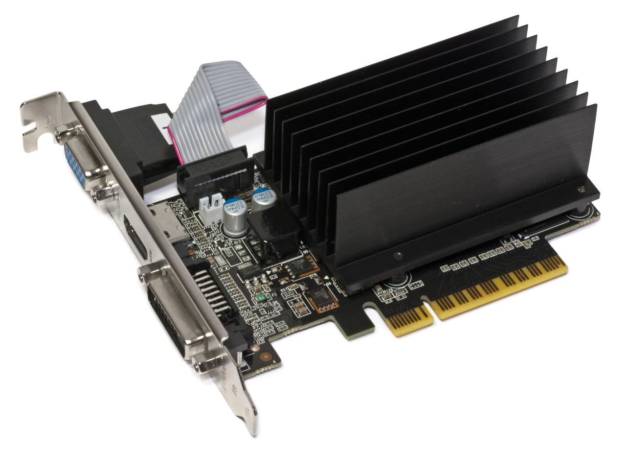 ВИДЕОКАРТА Pci-E GeForce GT 710 на 2GB c HDMI DDR 3  PCIe 2.0 с ГАРАНТИЕЙ ( видеоадаптер GT 710 2048 MB  )