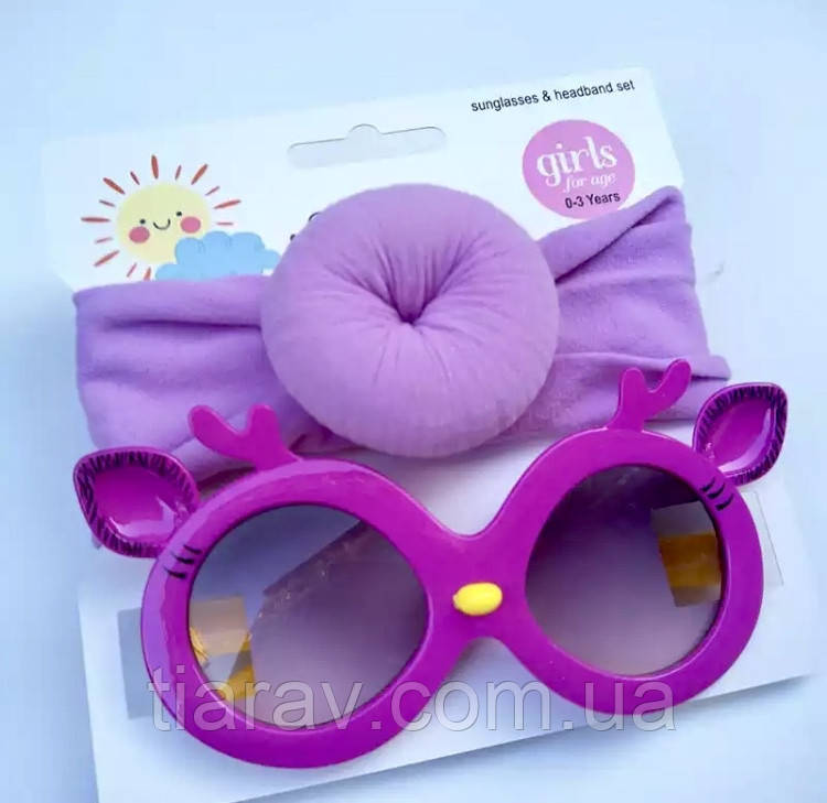 Окуляри сонцезахисні дитячі і пов'язка на голову, дитячі аксесуари