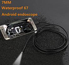 Эндоскоп бороскоп гибкая видеокамера 7mm длина 2 м для смартфона Android