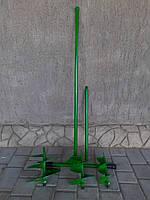 Бур садовый с тремя насадками 100,150 и 200 мм и удлинителем.