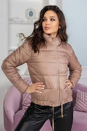 """Тёплая женская куртка на силиконе 9398 """"Плащёвка Стойка"""" в расцветках"""