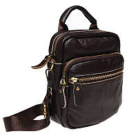 Мужская кожаная сумка через плечо Keizer K108-brown