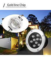 Світильник грунтовий QK-9LED 9W 3000K 230V IP65 розмір 160мм * 90мм, фото 5