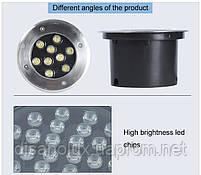Світильник грунтовий QK-9LED 9W 3000K 230V IP65 розмір 160мм * 90мм, фото 6