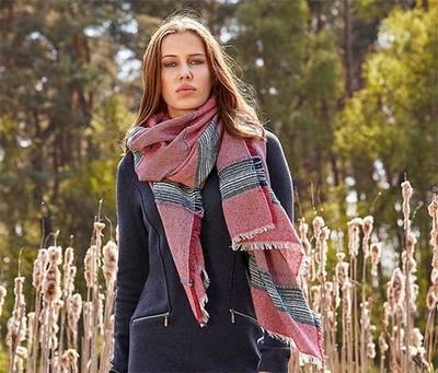 Шикарний великий теплий палантин, шарф від тсм Tchibo (Чібо), Німеччина