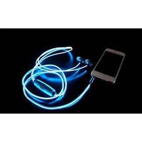 Светящиеся наушники с микрофоном Light Earphone (качественный звук) Синие