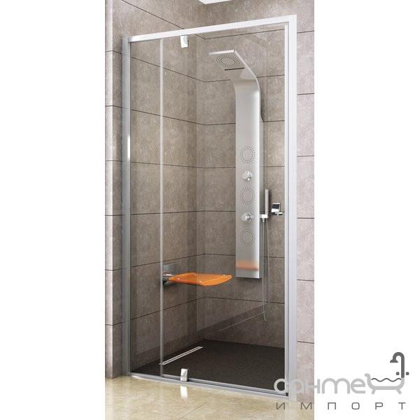 Душевые кабины, двери и шторки для ванн Ravak Душевые двери Ravak Pivot PDOP2-100 профиль сатин/стекло