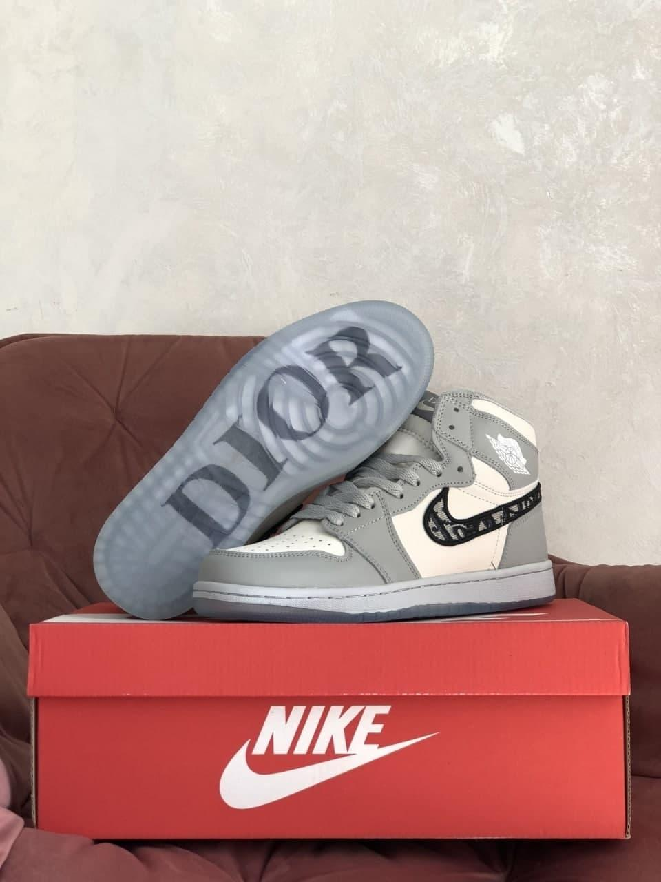 Кроссовки Nk Air Jordan 1 High х Dior Gray  36 37 38 39 40 41