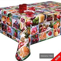 Клеёнка-скатерть на кухню с фруктами