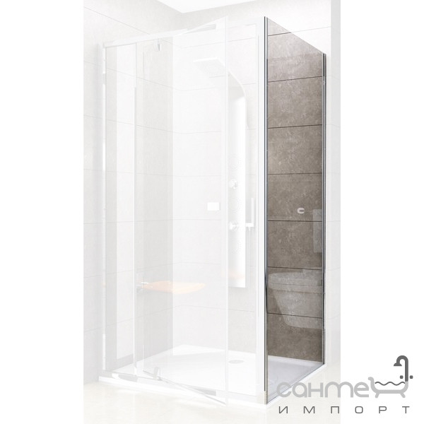 Душевые кабины, двери и шторки для ванн Ravak Боковая стенка Ravak Pivot PPS-100 сатин/прозрачное 90GA0U00Z1