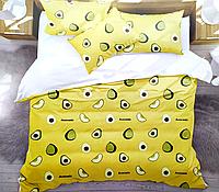 Двуспальное постельное белье - Авокадо желтое