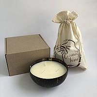 """Ароматические декоративные свечи для дома Coconut Home """" Банан"""" в подарочной упаковке"""