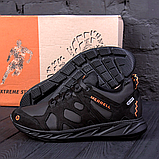 Чоловічі чорні шкіряні кросівки MERRELL, фото 2