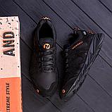 Чоловічі чорні шкіряні кросівки MERRELL, фото 3