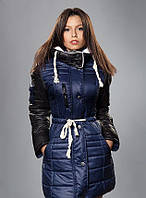 Удлиненная молодежная курточка на зиму