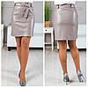 Короткая женская кожаная юбка, фото 2