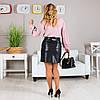 Короткая женская кожаная юбка, фото 4