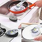Багатофункціональна щітка для миття посуду з ручкою DTMA з дозатором і насадками йоржик гнучка Cleaning Brush, фото 10