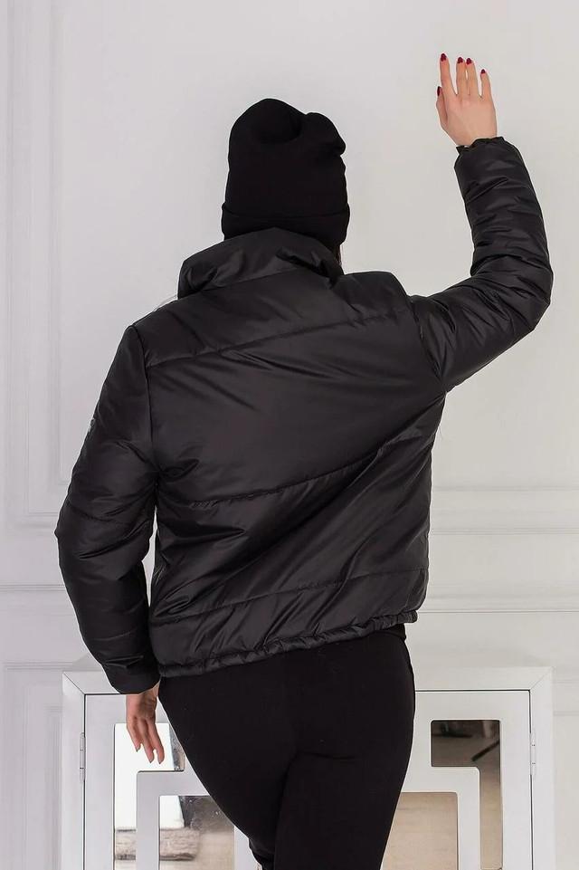 Куртка женская весенняя Курточка короткая женская Демисезонная Дутая куртка черного цвета
