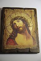Икона Спаситель в терновом венце ручной работы