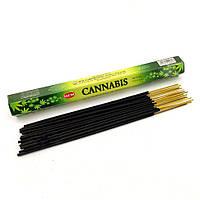 Благовоние Cannabis HEM 20шт/уп. Аромапалочки Конопля