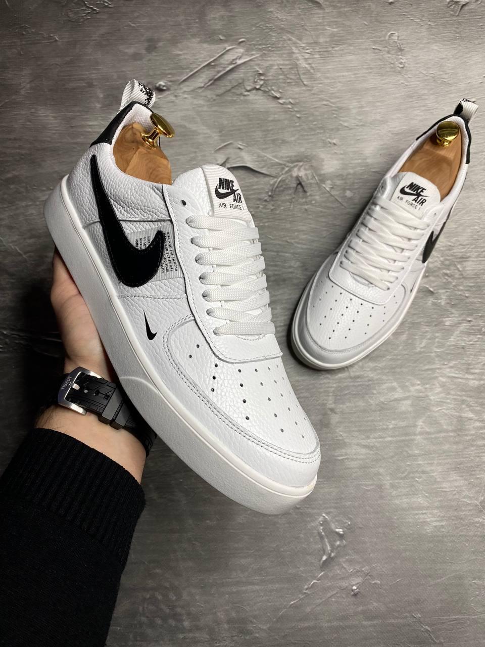 Мужские кожаные кеды Nike Air Force