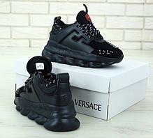 Чоловічі кросівки версаче чорні, Versace, фото 3