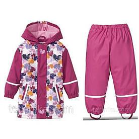 Костюм для девочки  водонепроницаемый  розовый в сердца Lupiluр.86/92 (12-24мес)