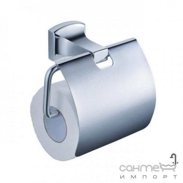 Аксессуары для ванной комнаты Kraus Держатель туалетной бумаги с крышкой Kraus Fortis KEA-13326CH хром