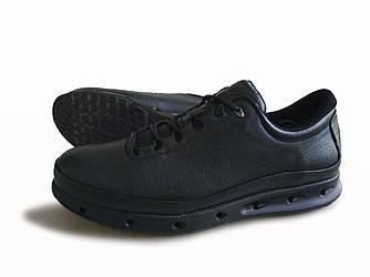 Туфли экко 02 кожаные обувь мужская осень-весна