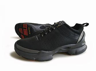 Удобные Кроссовки Ecco Biom кожаные мужские демисезонные черные с серым