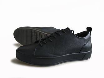 Комфортная обувь Ecco soft стильные ботинки из гладкой кожи