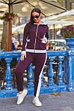 Женский батальный спортивный костюм со полосами на молнии (р. 48-54), фото 6